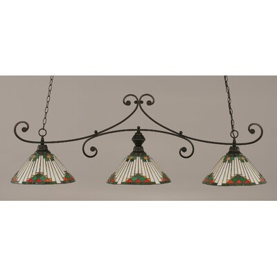 Copeland 3-Light Billiard Light Shade Color: Green