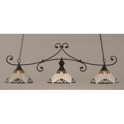 Copeland 3-Light Billiard Light Shade Color: Purple