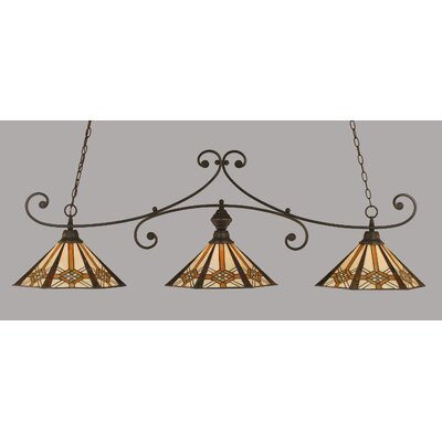 Dudley 3-Light Billiard Light Finish: Dark Granite