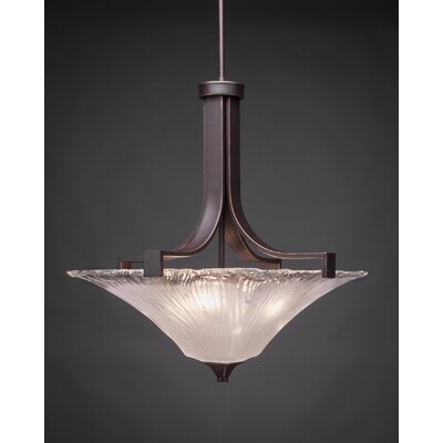Blau 3-Light Inverted Pendant Shade Color: Frosted