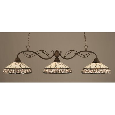 Jazz 3-Light Billiard Light Finish: Bronze