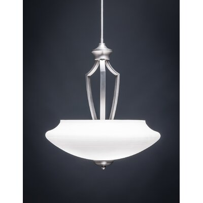 Zilo 3-Light Pendant Shade Color: White