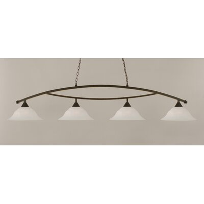 Blankenship 4-Light 150W Kitchen Island Pendant Color: Dark Granite
