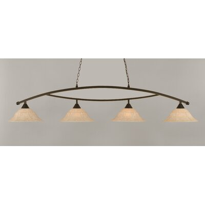 Blankenship 4-Light Kitchen Island Pendant Finish: Dark Granite