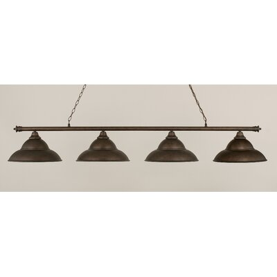 Oxford 4-Light Billiard Light Finish: Bronze