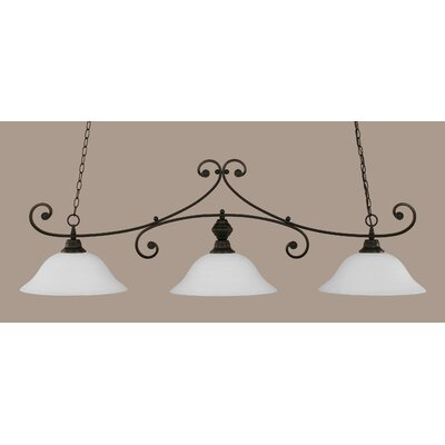 Babin 3-Light Billiard Light Finish: Matte Black, Shade Color: White