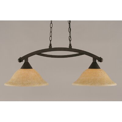 Blankenship 2-Light 100W Metal Kitchen Island Pendant Finish: Bronze