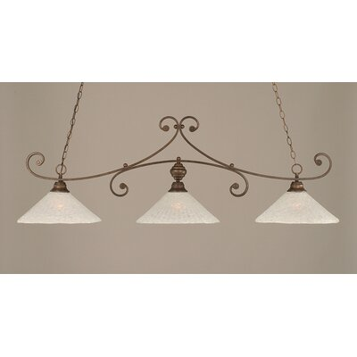 Babin 3-Light Kitchen Island Pendant Finish: Bronze