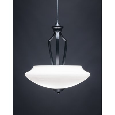 Zilo 1-Light Bowl Pendant Shade Color: White