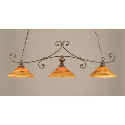 Babin 3-Light Billiard Light Finish: Bronze