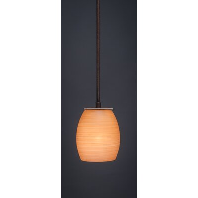 Apollo 1-Light Stem Mini Pendant With Hang Straight Swivel