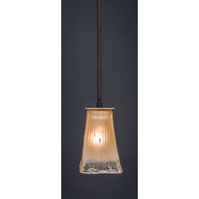 Blau 1-Light Stem Mini Pendant With Hang Straight Swivel