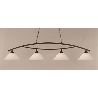 Blankenship 4-Light 150W Kitchen Island Pendant Finish: Bronze