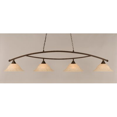 Blankenship 4-Light Kitchen Island Pendant Color: Bronze