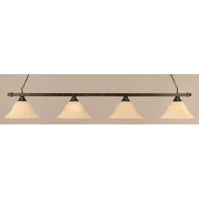 4-Light Billiard Light Finish: Amber