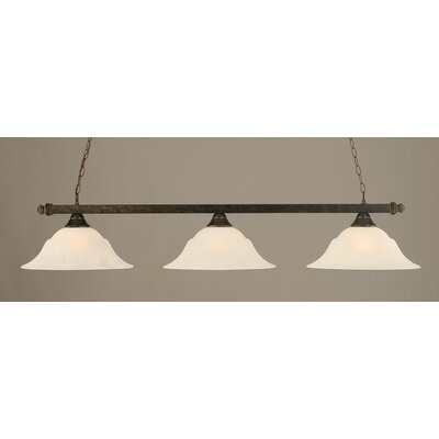 3-Light Pool Table Light Finish: Bronze, Shade Color: White