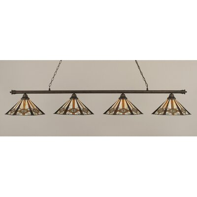 Passabe Tiffany 4-Light Billiard Light Finish: Bronze