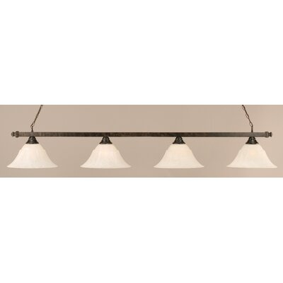 4-Light Billiard Light Finish: White