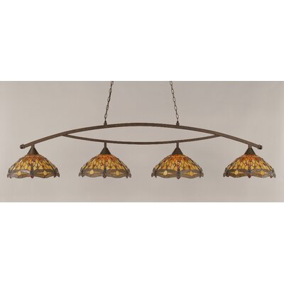 Bow 4-Light Downlight Pool Table Light Finish: Bronze