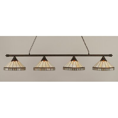 Passabe 4-Light Billiard Light Finish: Bronze