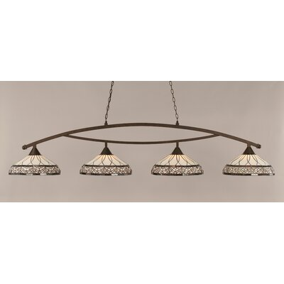 Austinburg 4-Light Metal Billiard Light Color: Bronze