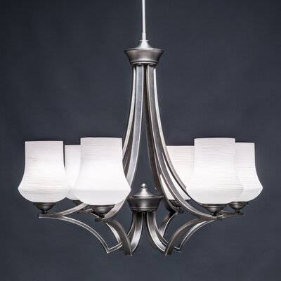 Zilo 6-Light Shaded Chandelier Shade Color: Cayenne
