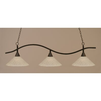 Swoop 3-Light Billiard Light Finish: Dark Granite