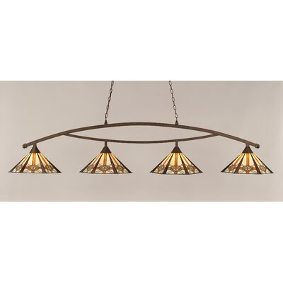 Essonnes 4-Light Metal Billiard Light Finish: Bronze