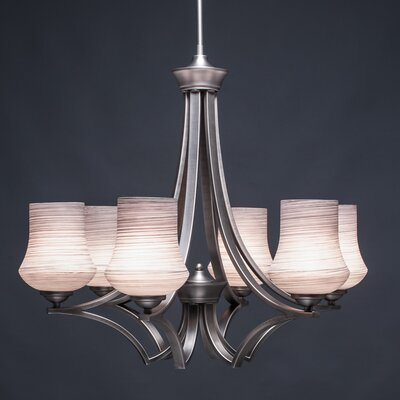Zilo 6-Light Shaded Chandelier Shade Color: Gray