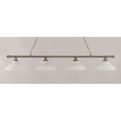 Oxford 4-Light Billiard Light Finish: Brushed Nickel