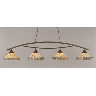 Essonnes 4-Light Bronze Billiard Light