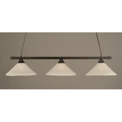 3-Light Pool Table Light Finish: Bronze