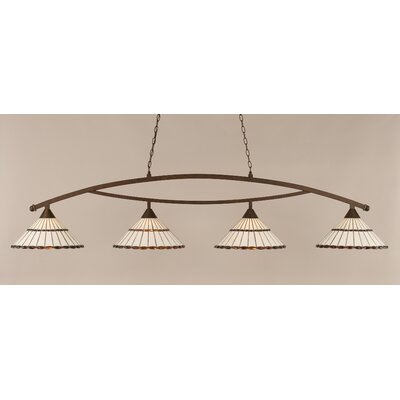 Austinburg 4-Light Kitchen Island Pendant Shade Color: Honey and Amber Brown