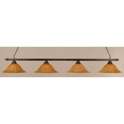 4-Light Billiard Light Size: 10.25 H x 76 W