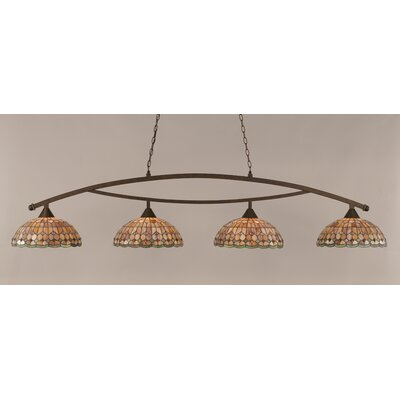 Austinburg 4-Light Bronze Billiard Light