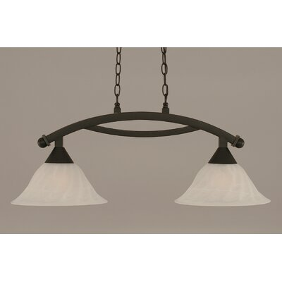 Blankenship 2-Light Steel Kitchen Island Pendant Finish: Dark Granite