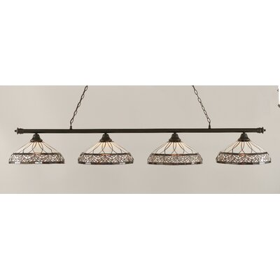 Oxford 4-Light Billiard Light Finish: Dark Granite