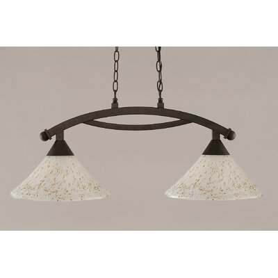 Blankenship 2-Light 100W Steel Kitchen Island Pendant Finish: Bronze