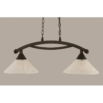 Eisenhauer 2-Light Metal Kitchen Island Pendant Finish: Bronze