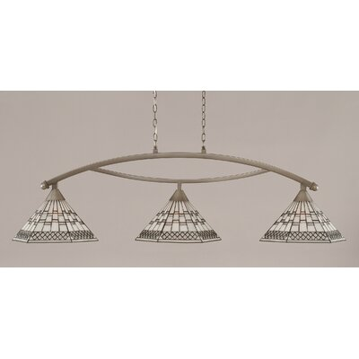 Essonnes 3-Light Brushed Nickel Kitchen Island Pendant