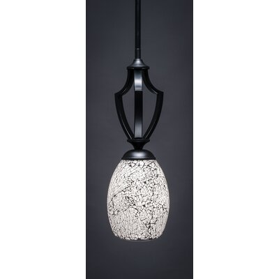 Zilo 1-Light Mini Pendant Finish: Matte Black
