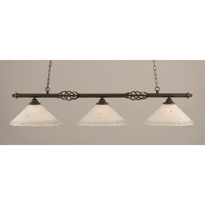 Elegante 3-Light Billiard Light Shade Color: Frosted