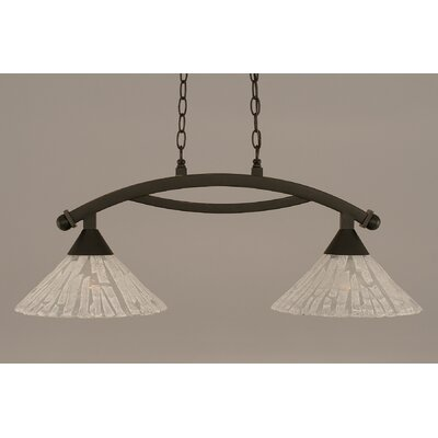 Eisenhauer 2-Light Metal Kitchen Island Pendant Finish: Dark Granite