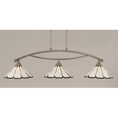 Austinburg Contemporary 3-Light Kitchen Island Pendant Finish: Brushed Nickel, Shade Color: Pearl