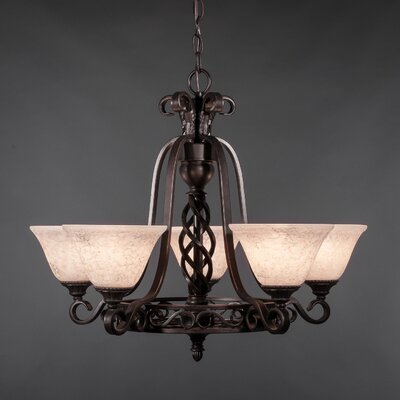 Elegante 5-Light Shaded Chandelier