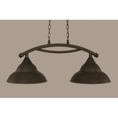 Bow 2-Light Kitchen Island Pendant Finish: Dark Granite