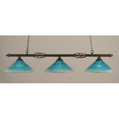 Elegante 3-Light Billiard Light Shade Color: Teal