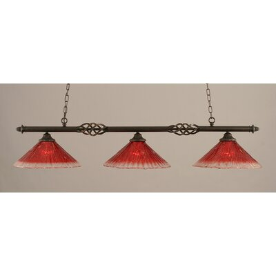 Elegante 3-Light Billiard Light Shade Color: Raspberry