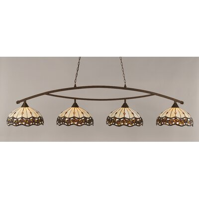 Austinburg Contemporary 4-Light 150W Kitchen Island Pendant Finish: Brushed Nickel