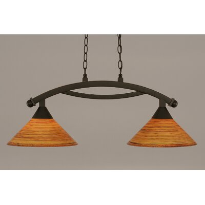 Blankenship 2-Light Metal Kitchen Island Pendant Finish: Dark Granite